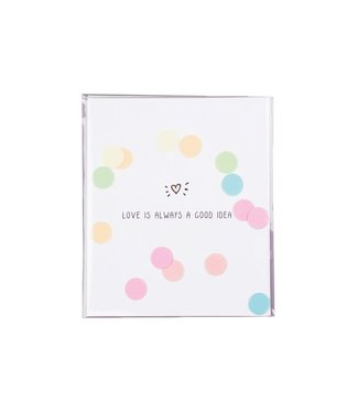 The Giftlabel Confetticard - Love is always a good idea