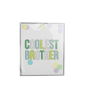 The Giftlabel Confetticard - Coolest Brother
