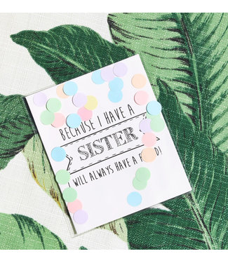 The Giftlabel Confetticard - Sister
