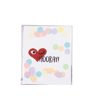 The Giftlabel Confetticard - Hooray