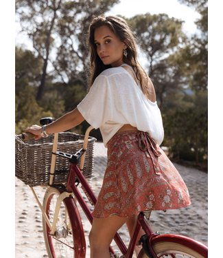 MOOST WANTED Anarosa Skirt - Washed red flower