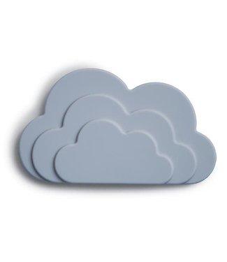 MUSHIE Bijtspeeltje cloud blauw