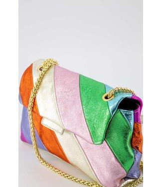 Rumah Rainbow bag - metallic small