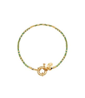 Rumah Armband beads groen