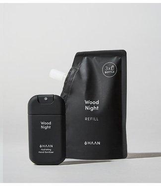 Haan Refill hand desinfectie gel  wood night