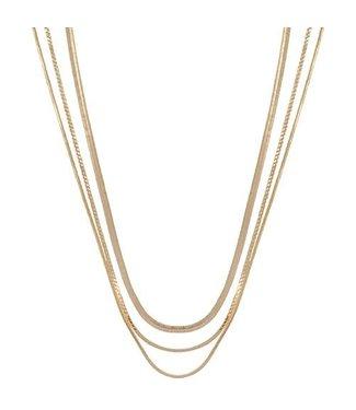 Club Manhattan Rebel chain necklace gold