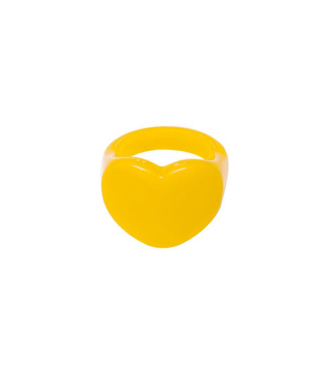 Rumah Heart shaped ring yellow