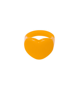 Rumah Heart shaped ring orange