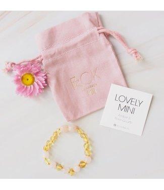 ROCKSTYLE Armband barnsteen mini rozenkwarts