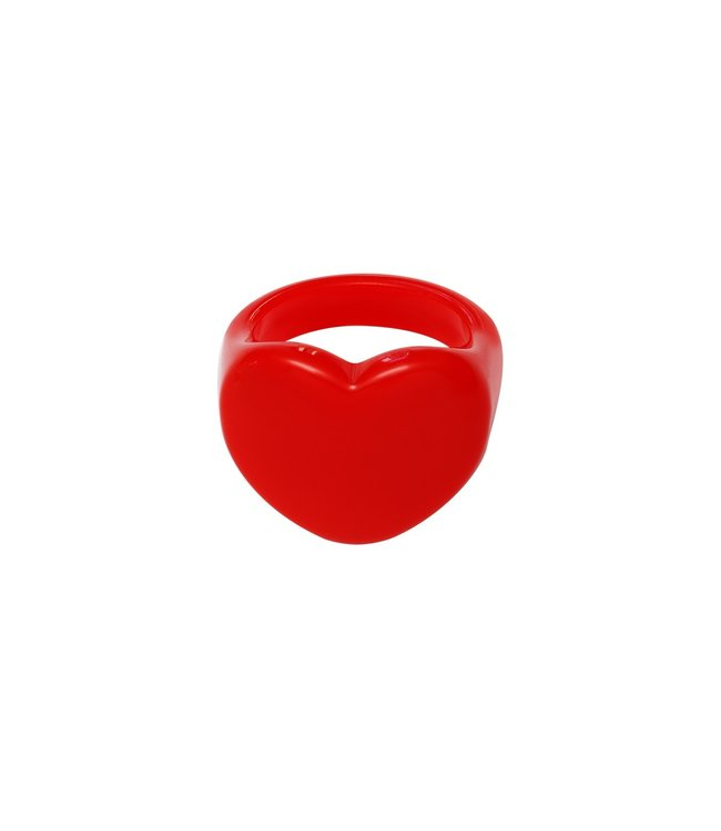 Rumah Heart shaped ring red