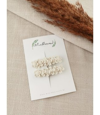 Mini and loved Haarspeldje Poppy lace beige