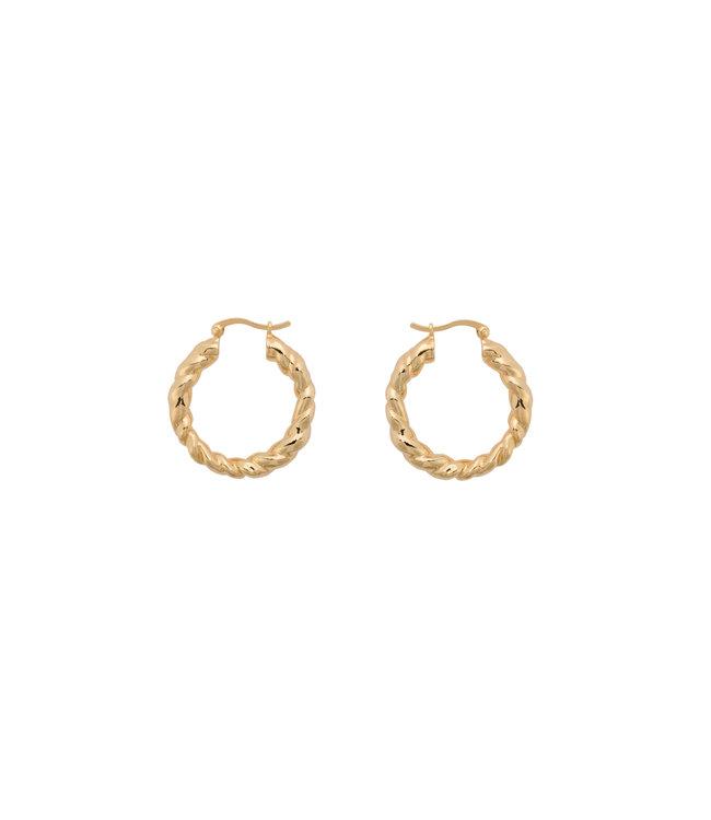 ANNA NINA Lasso Hoop Earrings goldplated