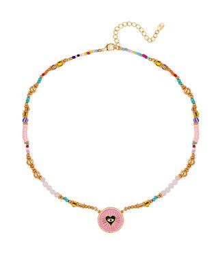 Rumah Ketting heart eye amulet