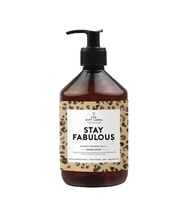 The Giftlabel Hand soap - Stay fabulous