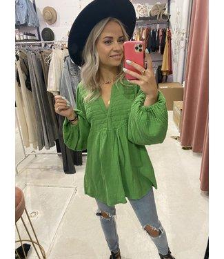 Rumah Wafel blouse groen