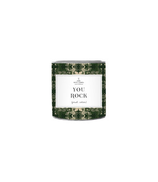 The Giftlabel Candle in tin big - You Rock Groen