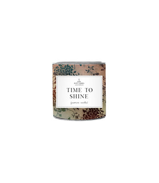 The Giftlabel Candle in tin big - Time to shine