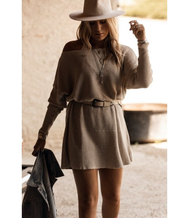 MOOST WANTED Nola knitted dress light beige