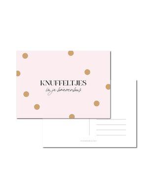 Stationery & Gift Knuffeltjes in je brievenbus roze