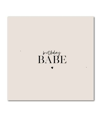 Stationery & Gift Birthday babe dubbele kaart