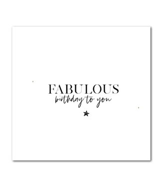 Stationery & Gift Fabulous birthday to you
