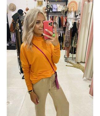 NAKD High neck sweater oranje