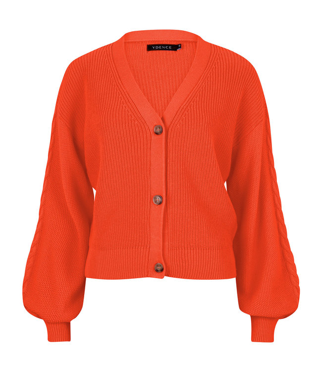 Ydence Cardigan Quin oranje