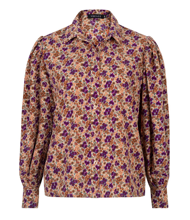 Ydence Blouse dagmar purple flower