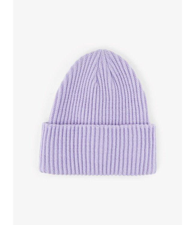 PIECES Hexo hood beanie lavender