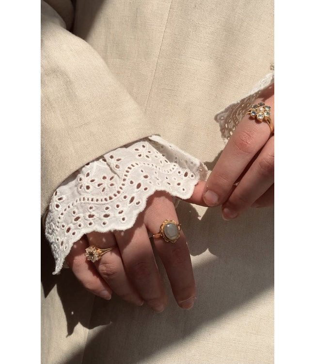 A LA Sleeves lace broderie