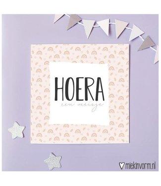 Miek in Vorm Hoera een meisje