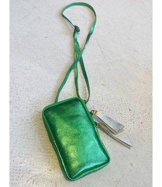Rumah Telefoon tasje groen metallic
