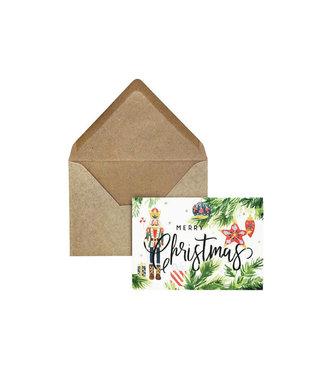 Creative lab amsterdam Merry christmas nutcracker green kaart