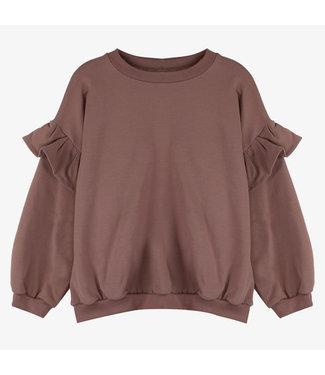 Milk N Sugar Ruffle sweater mauve