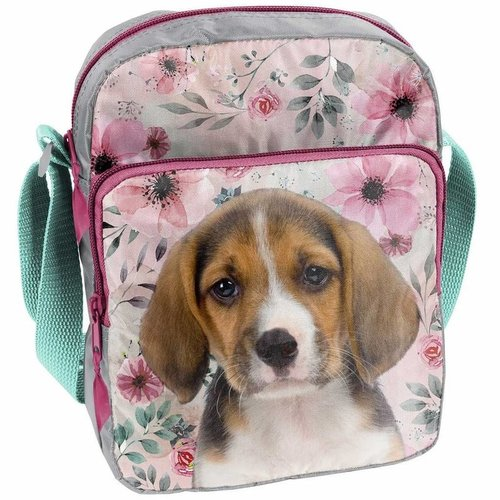 Animal Pictures Animal Pictures Beagle - Schoudertasje - 24 cm - Multi  - Leverbaar in: 24x18x7