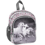 Animal Pictures Animal Pictures Peuter Rugzak Witte Paarden - 26 x 22 x 14 cm - Polyester