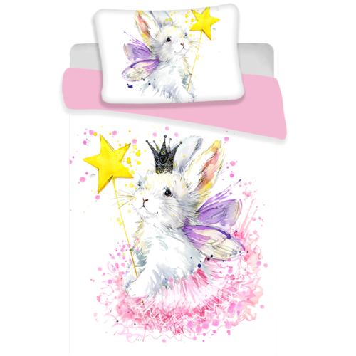 Animal Pictures Animal Pictures Baby dekbedovertrek Bunny White 100 x 135 cm + 1 kussensloop 60 x 40 cm - 100% Katoen