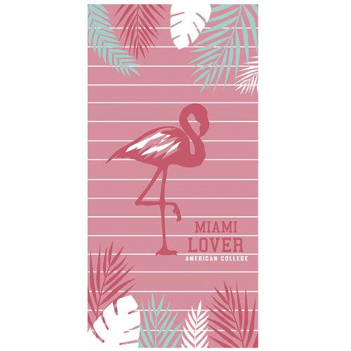 American College American College Strandlaken Flamingo 75 x 150 cm 100% katoen