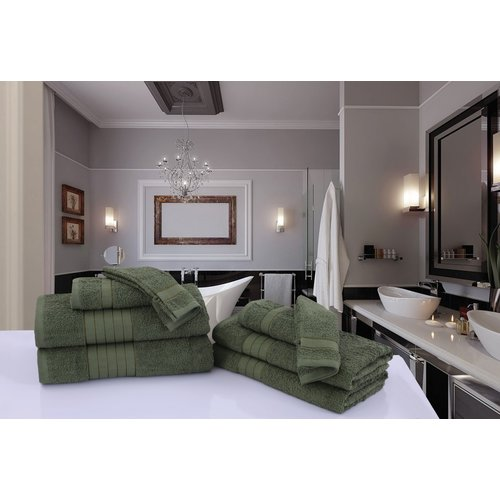 Good morning 2 stuks handdoeken 70x140 set nr.1000 groen