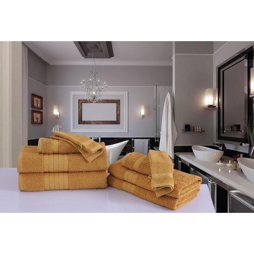 Good morning 8 stuks Badlaken   handdoeken set nr.1000 oker