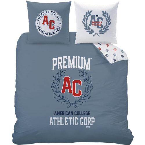 American College American Collega Dekbedovertrek Athletic Corp - 240 x 200 cm + 2x 63 x 63 - Katoen