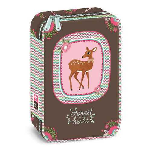 Animal Pictures Animal Pictures Etui Hert - 22 x 14.5 x 6 cm - Polyester