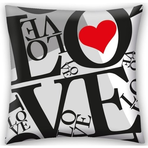 Valentines Sierkussen, LOVE - 40 x 40 cm - Polyester