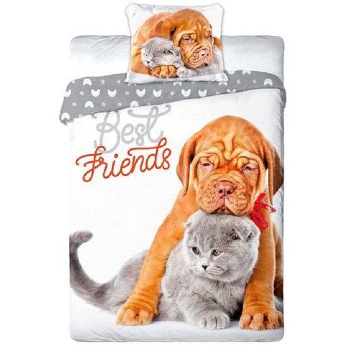 Animal Pictures Animal Pictures Dekbedovertrek Cat & Dog - 140x200 + 70x90cm - 100% katoen