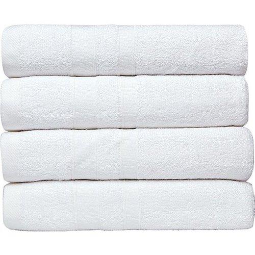 NoLizzz Bamboe handdoeken - set van 4 - Wit - 50x90cm