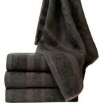 NoLizzz Bamboe handdoeken - set van 4 - Antraciet - 50x90cm