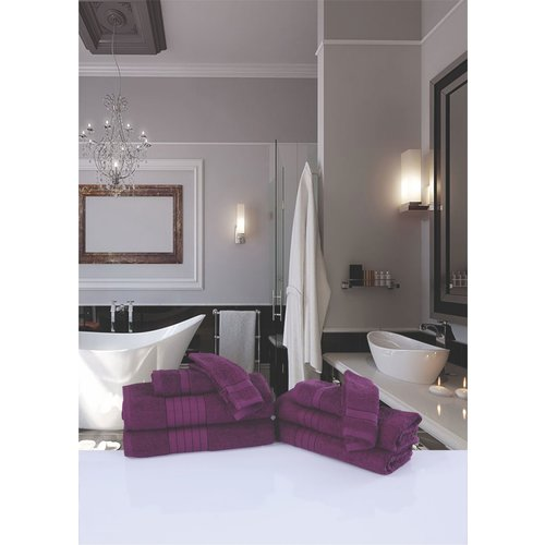 Good morning 4 stuks handdoeken 50x100 set nr.1000 bordeaux