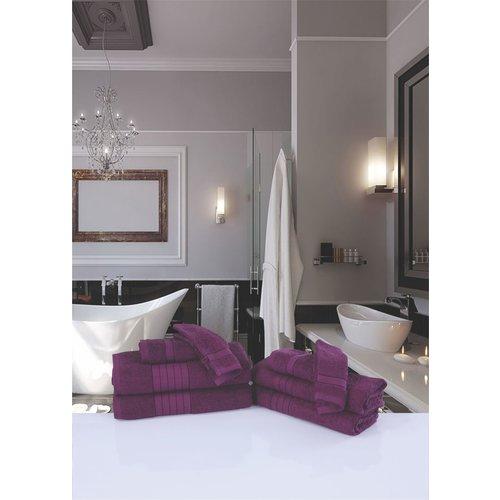 Good morning 2 stuks handdoeken 70x140 set nr.1000 bordeaux