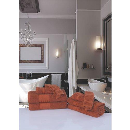 Good morning 4 stuks handdoeken 50x100 set nr.1000 terra