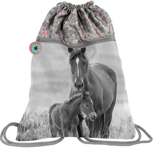 Animal Pictures Animal Pictures Paardjes gymbag - 45 x 34 cm - Multi  - Leverbaar in: 45x34